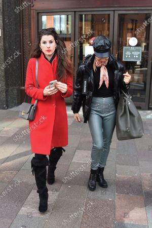 Editorial image of Elen Rivas and Bianca Bowie-Phillips out and about, London, UK - 17 Oct 2020