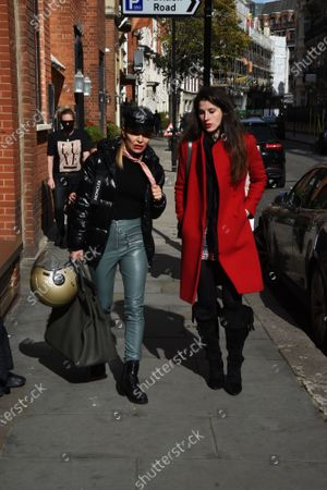 Editorial photo of Elen Rivas and Bianca Bowie-Phillips out and about, London, UK - 17 Oct 2020