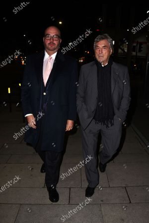 Billy Murray and Jonathan Sothcott arrive at Pepenero restaurant for a meal togther as London enters tier 2 lockdown