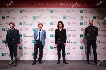 Gian Marco Ceccaranelli, Antonio Monda, Gipo Fasano and Valerio Santucci