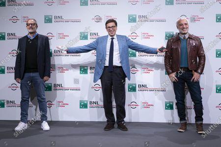 Michel Ruben, Antonio Monda and Javier Fuentes Leon