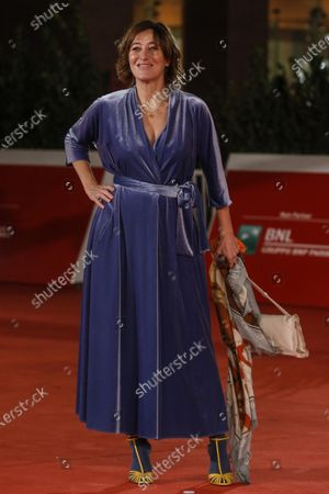 Valeria Bruni Tedeschi arrives for the screening of 'Ete 85' at the 15th annual Rome International Film Festival, in Rome, Italy, 17 October 2020. The film festival runs from 15 to 25 October.