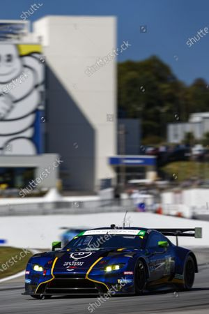 ROAD ATLANTA, UNITED STATES OF AMERICA - OCTOBER 17: #23 Heart Of Racing Team Aston Martin Vantage GT3, GTD: Roman De Angelis, Ian James, Darren Turner during the Road Atlanta II at Road Atlanta on October 17, 2020 in Road Atlanta, United States of America. (Photo by Jake Galstad / LAT Images)