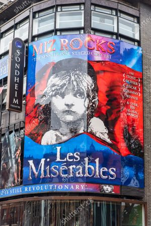 Editorial photo of New Signage completed for Les Miserables in London, UK - 17 Oct 2020