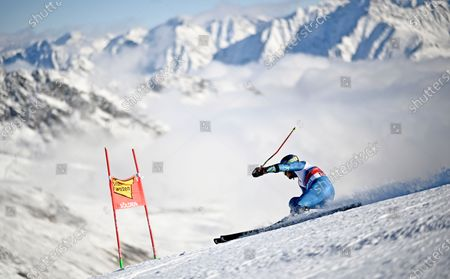 Ted Ligety of the US in action during the first run of the men's Giant Slalom race of the FIS Alpine Skiing World Cup season opener in Soelden, Austria, 18 October 2020.