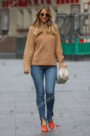 Vogue Williams departs Global Radio, Leicester Square.