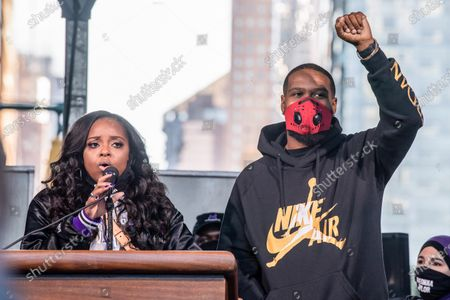 Editorial picture of National State of Emergency Get Out The Vote Rally In New York, US - 17 Oct 2020