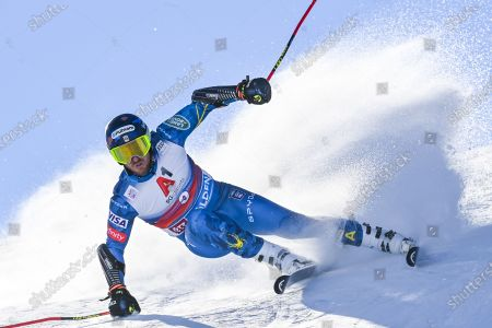 Ted Ligety of USA in action during the first run of the men's Giant Slalom race of the FIS Alpine Skiing World Cup season opener in Soelden, Austria, 18 October 2020.