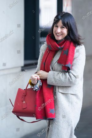 Shadow Chancellor of the Duchy of Lancaster Rachel Reeves arrives at the BBC. Later she will appear on the Andrew Marr Show.