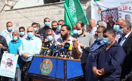 Editorial picture of Palestinian supporters of Hamas movment take part in a rally to mark the 9th anniversary of a deal which saw the exchange of 1,027 Palestinian prisoners for captured Israeli soldier Gilad Shalit, Gaza city, Gaza Strip, Palestinian Territory - 18 Oct 2020