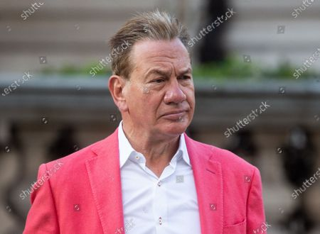Michael Portillo outside the BBC Studios.