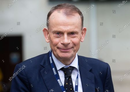 Andrew Marr, Televison presenter and Journalist, leaves t the BBC Studios after presenting his show, 'The Andrew Marr Show'.