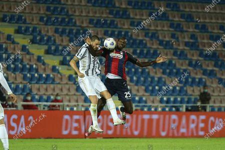 Leonardo Bonucci of Juventus and Simy of Crotone