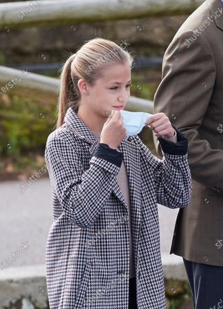 Crown Princess Leonor visits Somao, which has been honoured as the 2020 Best Asturian Village, the day after 'Princesa de Asturias' Awards in Somao, Oviedo