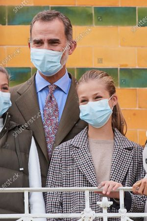 King Felipe VI, Crown Princess Leonor visit Somao, which has been honoured as the 2020 Best Asturian Village, the day after 'Princesa de Asturias' Awards in Somao, Oviedo