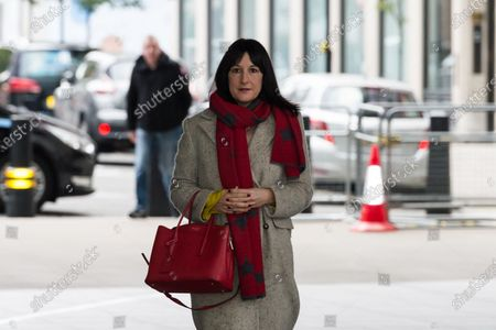 Stock Photo of Shadow Chancellor of the Duchy of Lancaster Rachel Reeves arrives at the BBC Broadcasting House in central London to appear on The Andrew Marr Show.