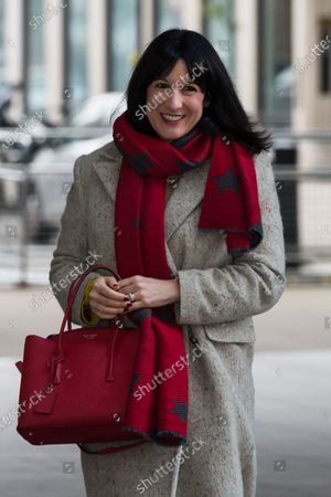 Shadow Chancellor of the Duchy of Lancaster Rachel Reeves arrives at the BBC Broadcasting House in central London to appear on The Andrew Marr Show.