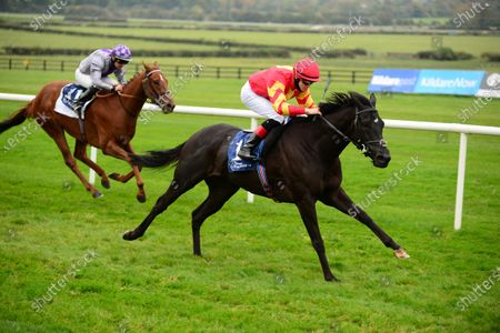 Stock Image of NAAS 18-October-2020. DANCE JUPITER and Dylan Browne McMonagle win for owner Mrs C C Regalado-Gonzalez and trainer Joseph O'Brien.