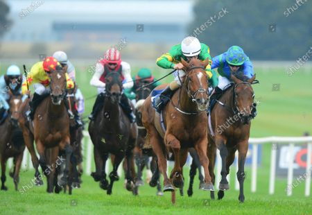 Stock Photo of NAAS 18-October-2020. BARRINGTON COURT and Shane Foley win for owner J P McManus and trainer Jessica Harrington.