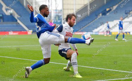 Stock Picture of Junior Hoilett of Cardiff and Ben Pearson of Preston North End