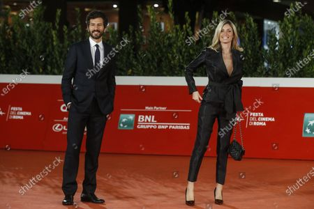 Francesco Scianna (L) and actress Marianna Falace arrive for the screening of 'Open Your Eyes' at the 15th annual Rome International Film Festival, in Rome, Italy, 18 October 2020. The film festival runs from 15 to 25 October.