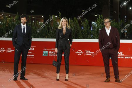 Francesco Scianna, Marianna Falace and Gabriele Muccino arrive for the screening of 'Open Your Eyes' at the 15th annual Rome International Film Festival, in Rome, Italy, 18 October 2020. The film festival runs from 15 to 25 October.