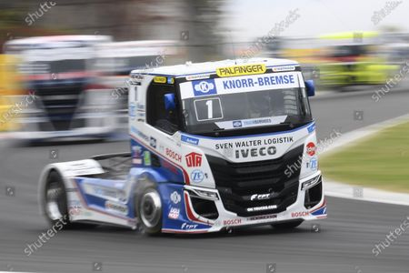 Czech driver Adam Lacko of Buggyra Zero Mileage Racing in action during the Hungarian stage of the FIA European Truck Racing Championships at the Hungaroring circuit in Mogyorod, Hungary, 18 October 2020.