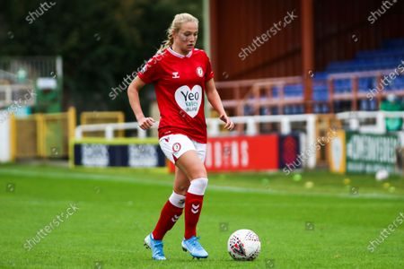 Jemma Purfield of Bristol City Women dribbles with the ball- Mandatory by-line: Will Cooper/JMP