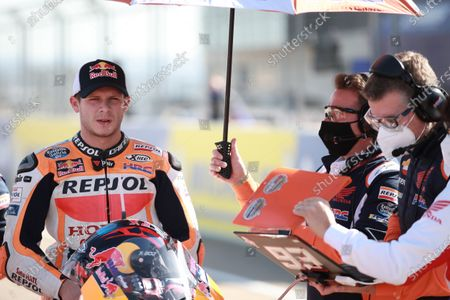 MOTORLAND ARAGON, SPAIN - OCTOBER 18: Stefan Bradl, Repsol Honda Team during the Aragon GP at Motorland Aragon on October 18, 2020 in Motorland Aragon, Spain. (Photo by Gold and Goose / LAT Images)