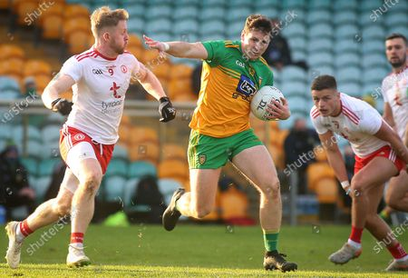 Stock Photo of Donegal vs Tyrone. Donegal's Jamie Brennan and Tyrone's Frank Burns