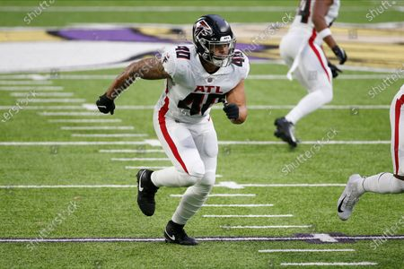 Atlanta Falcons fullback Keith Smith (40) plays against the Minnesota Vikings during the second half of an NFL football game, in Minneapolis
