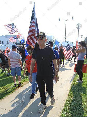 Editorial photo of Trump rally, Los Angeles, California, USA - 17 Oct 2020
