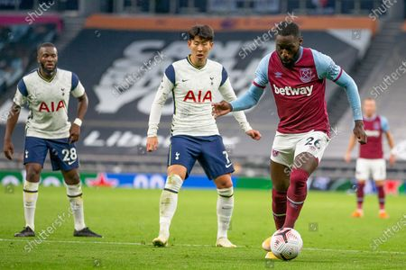 Stock Image of Arthur Masuaku of West Ham United in action