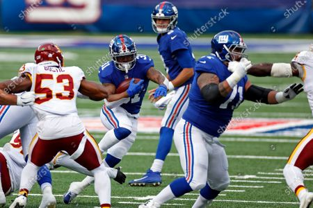 New York Giants running back Devonta Freeman (31) in action during an NFL football game against the Washington Football Team, in East Rutherford, N.J