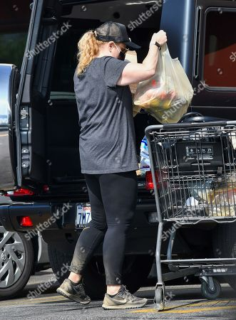Stock Image of Rebel Wilson is seen shopping for groceries