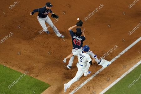Editorial picture of NLCS Braves Dodgers Baseball, Arlington, United States - 18 Oct 2020