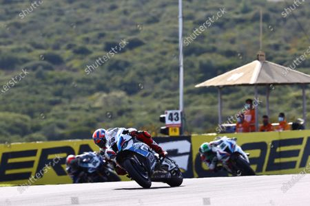 CIRCUITO ESTORIL, PORTUGAL - OCTOBER 18: Tom Sykes, BMW Motorrad WorldSBK Team, Eugene Laverty, BMW Motorrad WorldSBK Team during the Estoril at Circuito Estoril on October 18, 2020 in Circuito Estoril, Portugal. (Photo by Gold and Goose / LAT Images)