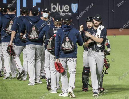 Editorial image of Los Angles Dodgers at Atlanta Braves - National League Championship Series, Arlington, USA - 18 Oct 2020
