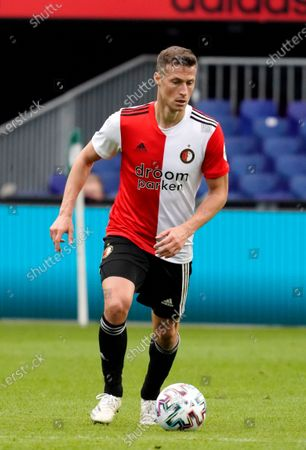 Uros Spajic of Feyenoord during Eredivisie match Feyenoord vs Sparta in Stadion Feyenoord in Rotterdam, Netherlands