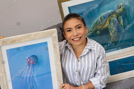 'The Dumping Ground' actress Annabelle Davis donates her artwork to local children's mental health charity The Young Peoples Counselling Service (YPCS).