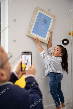 Stock Photo of 'The Dumping Ground' actress Annabelle Davis donates her artwork to local children's mental health charity The Young Peoples Counselling Service (YPCS).