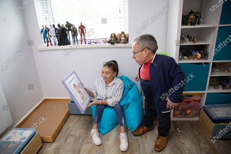 Editorial picture of Annabelle Davis donates her artwork to local children's mental health charity The Young Peoples Counselling Service (YPCS), Yaxley, Peterborough, UK - 17 Oct 2020