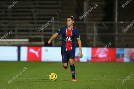 Stock Photo of Paris Saint-Germain's Ander Herrera during the French L1 football match between Nimes (NO) and Paris Saint Germain (PSG) at the Costieres Stadium in Nimes, southern France, on October 16, 2020.