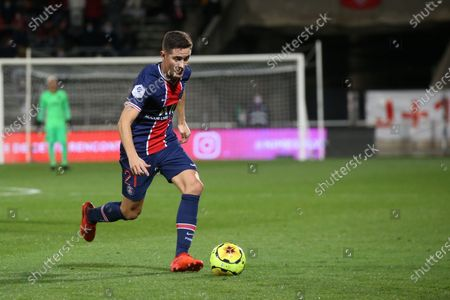 Paris Saint-Germain's Ander Herrera during the French L1 football match between Nimes (NO) and Paris Saint Germain (PSG) at the Costieres Stadium in Nimes, southern France, on October 16, 2020.
