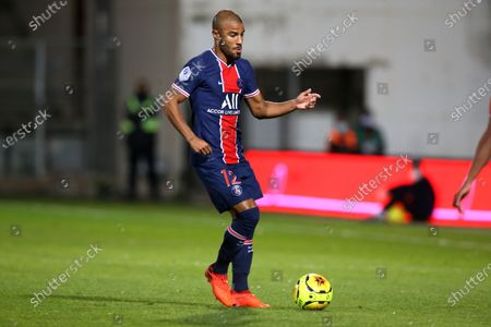 Paris Saint-Germain's Rafinha during the French L1 football match between Nimes (NO) and Paris Saint Germain (PSG) at the Costieres Stadium in Nimes, southern France, on October 16, 2020.