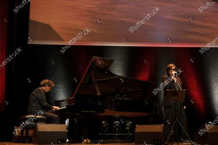 Gabriel Yared performs during the tribute to the brothers Jean-Pierre and Luc Dardenne at the 12th Film Festival Lumiere in Lyon