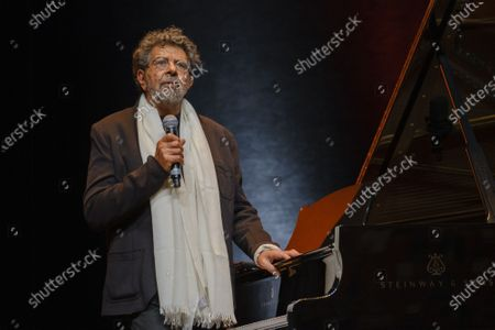 Stock Photo of Gabriel Yared performs during the tribute to the brothers Jean-Pierre and Luc Dardenne at the 12th Film Festival Lumiere in Lyon