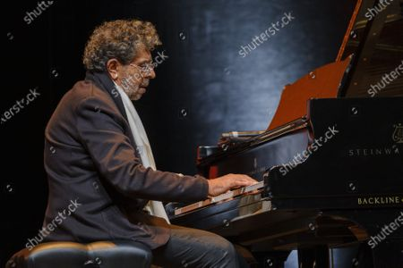 Stock Picture of Gabriel Yared performs during the tribute to the brothers Jean-Pierre and Luc Dardenne at the 12th Film Festival Lumiere in Lyon
