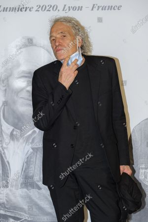 Abel Ferrara attends the tribute to the brothers Jean-Pierre and Luc Dardenne at the 12th Film Festival Lumiere in Lyon.