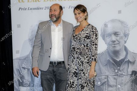 Kad Merad and Emmanuelle Cosso attend the tribute to the brothers Jean-Pierre and Luc Dardenne at the 12th Film Festival Lumiere in Lyon.
